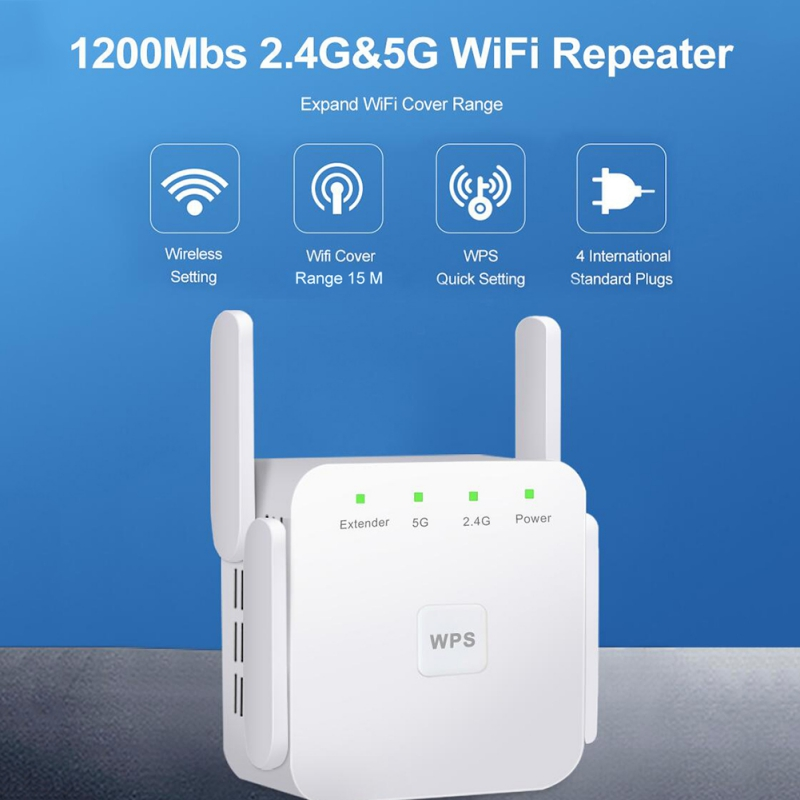 WiFi Extender 1200Mbps Range Wireless Amplifier Router Signa